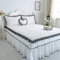 纯棉床罩床裙四件套床裙款加厚床上夹棉全棉床罩式1.8米2.0m床套