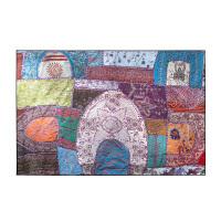 民族风创意拼接客厅地毯 家用沙发茶几垫 卧室铺满床边毯