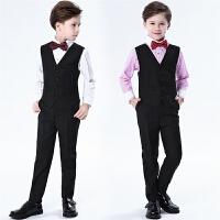 儿童西服男童小西装马甲套装花童礼服男孩钢琴合唱演出服长袖春夏