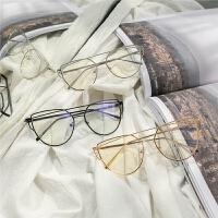 新款儿童眼镜男宝宝时尚文艺范装饰眼镜儿童透明椭圆框眼镜饰品潮