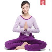 个性时尚莫代尔长裤大码上衣长袖显瘦背心瑜伽服套装女跑步运动三件套