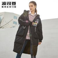 波司登(BOSIDENG)新款迪士尼系列米奇羽绒服女士韩版时尚街潮冬装