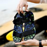 凉鞋男2018夏季新款韩版潮流时尚舒适个性学生运动休闲男士沙滩鞋