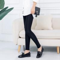 高弹力外穿大码打底裤女2018秋季新款紧身显瘦薄款踩脚裤