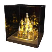 3D立体拼图金属模型手工天鹅堡建筑拼装玩具礼品 瓦西里+黄灯 送:豪华礼包