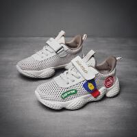 男童运动鞋新款透气网面软底女童宝宝儿童网鞋