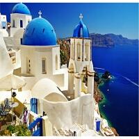浪漫爱情海希腊爱琴海1000片木质拼图1500唯美风景 圣托里尼