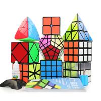圣手异形镜面魔方三阶套装 3阶金字塔斜转五魔方 初学者益智玩具