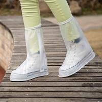 高筒防水防雨鞋套男女 防滑加厚雨鞋套 下雨天学生雨鞋套