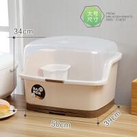 塑料碗柜沥水架带盖碗碟收纳架碗筷收纳盒家用碗盆厨房沥水置物架