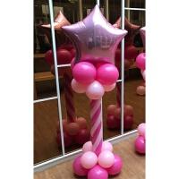 皇冠立柱男女宝宝满月百日宴 儿童周岁生日布置 气球派对装饰用品
