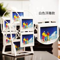 摩天轮相框组合5寸创意儿童宝宝照片婚纱照相片框摆台旋转