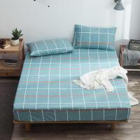 纯棉床笠单件加厚老粗布全棉床罩席梦思保护套1.8m床防尘罩冬1.5m