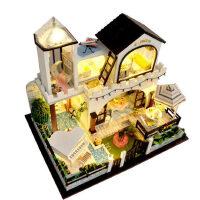 diy小屋别墅星岛假日手工创意拼装房子模型玩具生日礼物女生