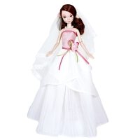 手工浪漫婚纱花样新娘关节体儿童礼物洋娃娃