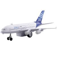 合金飞机A380客机空中客车大型客机 声光回力模型儿童玩具