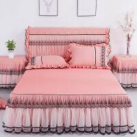公主蕾丝床裙单件床罩防滑床垫席梦思保护套花边荷叶边床笠