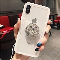 潮牌苹果x手机壳挂绳iphone8plus支架6s/7/xs max/xr水钻女款6plus/7pl 6/6s4.7