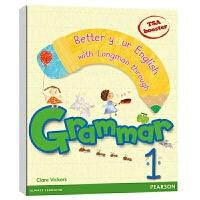 Grammar Pearson 朗文小学教材英文语法提升第1级 进口英文原版 培生少儿英语语法 可自学可教学 朗文欢迎语