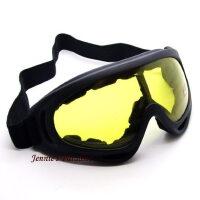 PC镜片夜视眼镜防护眼镜夜视风镜防风镜防风眼镜摩托车风镜黄 支持礼品卡支付