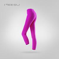 瑜珈裤女秋冬健身房运动跑步高腰弹力紧身显瘦七分裤T008