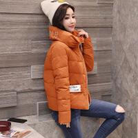 短款棉衣女冬装新款韩版宽松字母印花女外套 WQY3126黑色