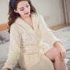法兰绒情侣睡袍男女士秋冬季加大码长款浴衣家居服睡衣珊瑚绒浴袍