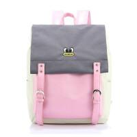 双肩包女初中学生书包大容量背包电脑包jgf 粉色