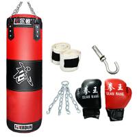 帆布沙袋PU 沙包 吊式实心拳击散打泰拳训练体育用品健身器材