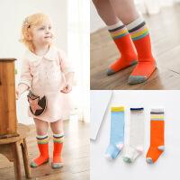 G206儿童袜子 棉袜拼色宝宝小腿袜 韩版卡通可爱婴儿中筒袜
