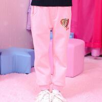 【开学季・每满100减50】芭比童装女童卡通长裤2017冬季新款儿童休闲运动裤纯棉收脚裤