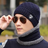 户外保暖套头帽子围脖男冬天针织毛线帽韩版潮男士包头帽防风冬帽