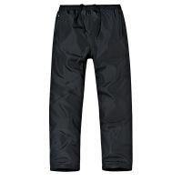 冬季加绒休闲裤男中老年加厚保暖运动裤宽松加肥大码外穿老人棉裤 黑色 加绒款 5XL 200斤左右