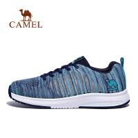 camel骆驼春运动鞋 飞织网鞋轻便跑步运动鞋情侣款跑鞋