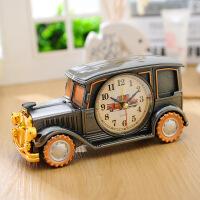 怀旧复古老爷车摆台时钟创意汽车模型闹钟男孩房床头闹钟