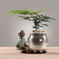 ��意玻璃透明花瓶�[件客�d插花文竹�l��渑柙圆妥姥b�品花器器皿