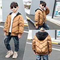 童装冬装男童连帽夹克冬季中大儿童洋气棉衣外套