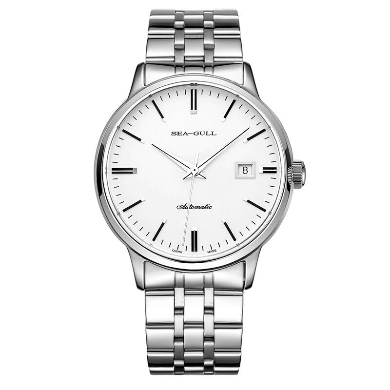 Seagull海鸥男士手表单历精钢自动机械表可用礼品卡支付