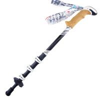 鲁滨逊徒步登山杖 四节外锁碳素手杖拐杖新银海 旅游装备户外用品