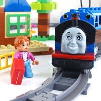 大型轨道火车儿童拼装玩具积木积木大颗粒积木塑料拼插