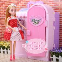 儿童仿真衣橱梦幻衣柜乐吉儿芭巴比娃娃套装大礼盒玩具女孩洋娃娃
