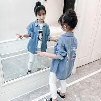 女童牛仔外套春秋洋气童装新款中大童儿童上衣小女孩春装夹克
