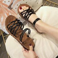 户外两穿女士凉鞋时尚配裙子的鞋百搭仙女风交叉绑带平底拖鞋