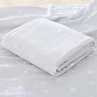 婴儿浴巾冬纱布六层纯棉加厚超柔吸水洗澡盖毯宝宝新生儿童毛巾被
