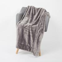 家纺法兰绒小毛毯双层加厚珊瑚绒小毯子冬季办公室自习室膝盖毯 80*110cm
