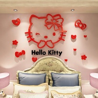 猫亚克力3d立体墙贴儿童房卡通贴纸卧室床头墙壁装饰品