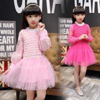 女童连衣裙秋装儿童公主裙长袖女孩蕾丝纱裙子