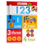 刷刷笔可重复擦写Smart Start Wipe-Clean Workbook 123数字学习 英文原版进口绘本 幼儿