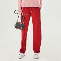 活动到手价159丨红袖ins潮显瘦宽松直筒运动裤
