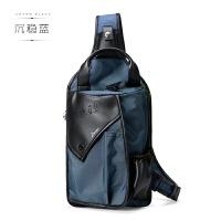 休闲男士胸包新款潮男单肩斜挎包运动挎包韩版帆布包包运动包